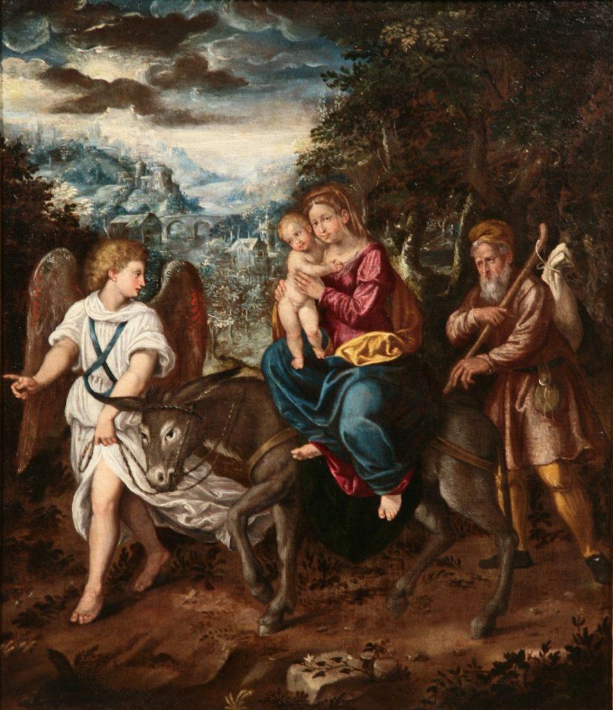 Aurelio Busso, Fuga in Egitto, olio su tela, Galleria dell'Accademia Tadini, Lovere (BG)