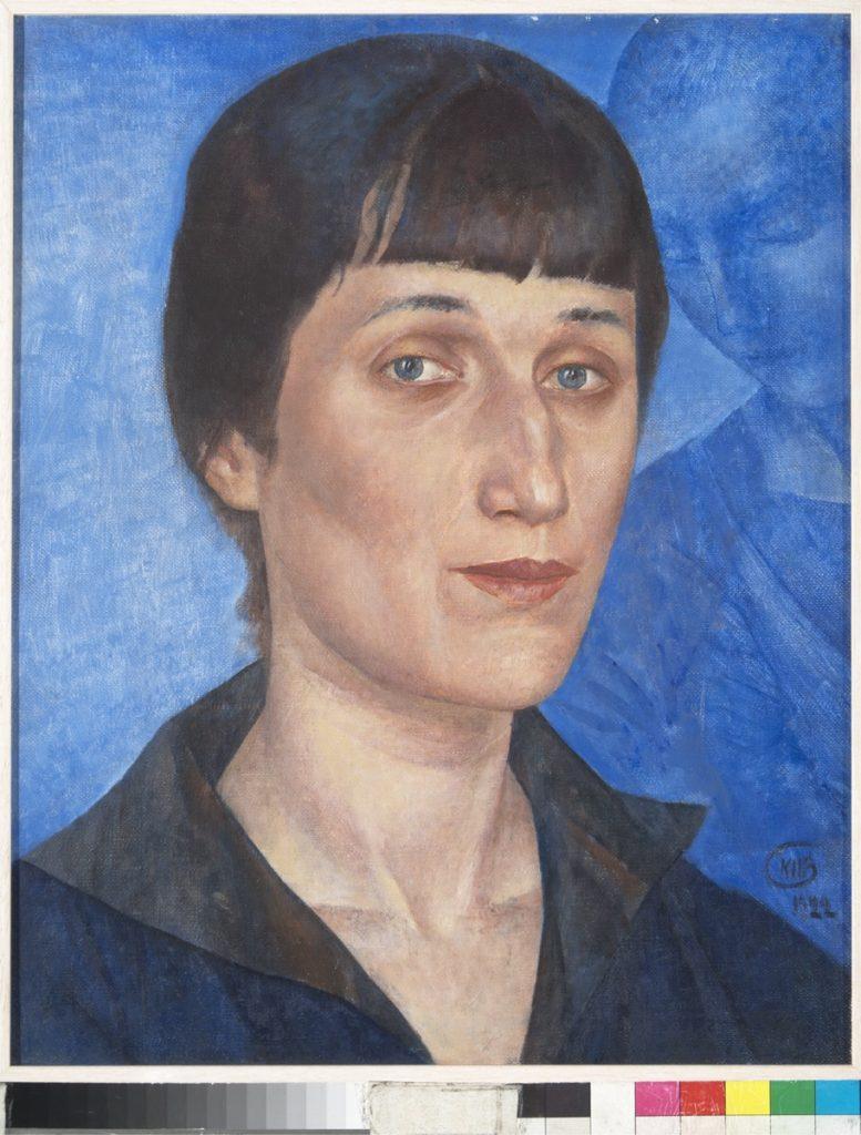 Divine e Avanguardie - Le donne nell'arte russa - Kuzma Petrov-Vodkin, ritratto di Anna Akhmatova