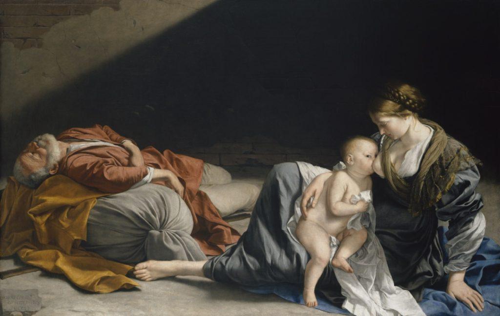 Orazio Gentileschi, Riposo durante la fuga in Egitto, olio su tela, Kunsthistorisches Museum, Vienna