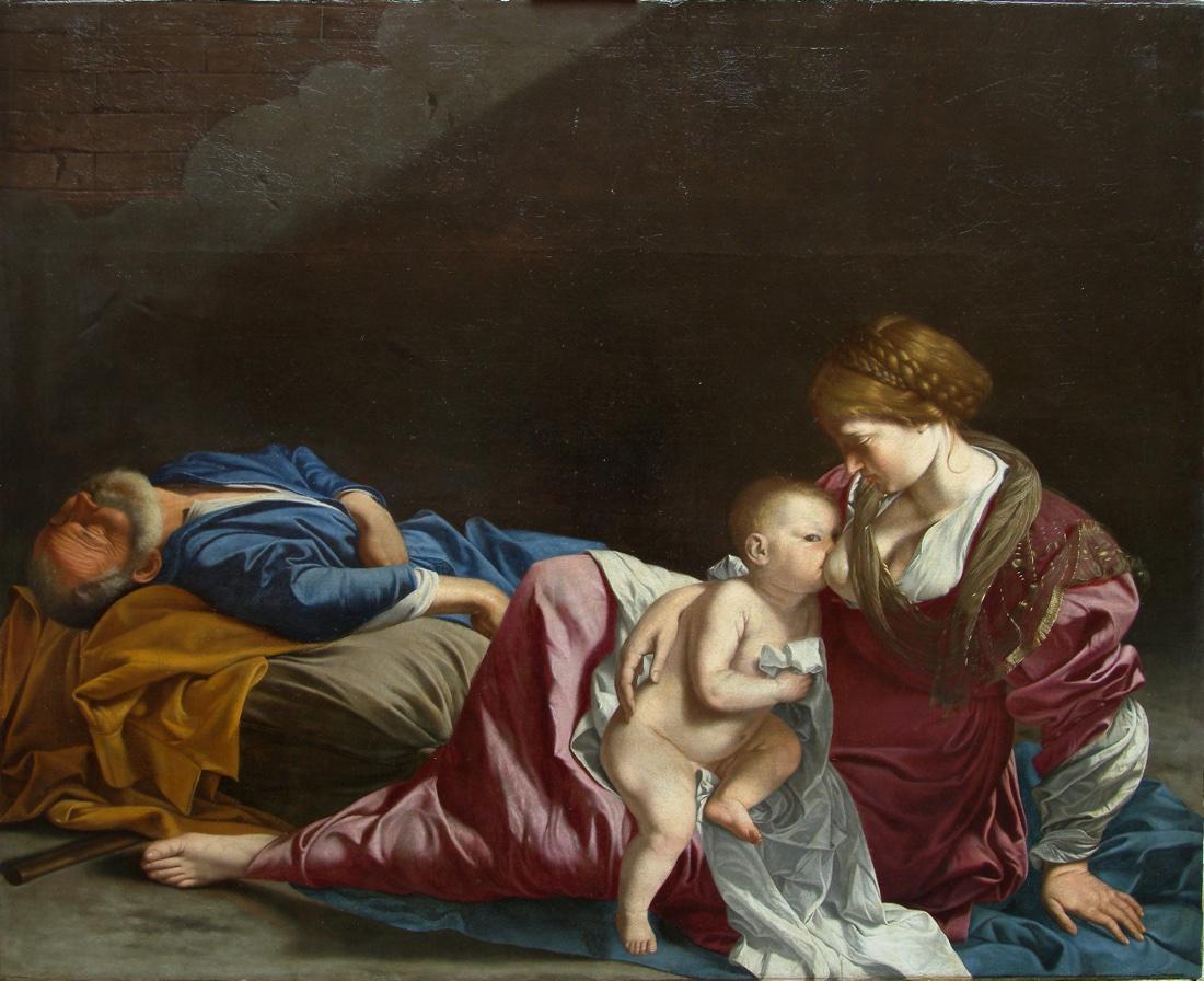 Orazio Gentileschi, Riposo durante la fuga in Egitto, olio su tela, collezione privata
