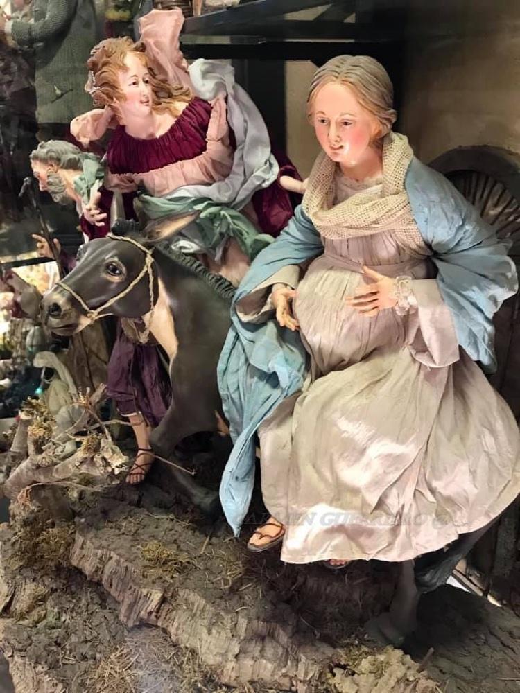 Presepe napoletano - fuga di Giuseppe e Maria incinta, F.lli Capuano