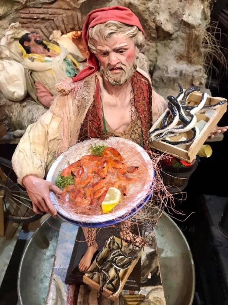 Presepe napoletano - pescatore, azienda Marco Ferrigno