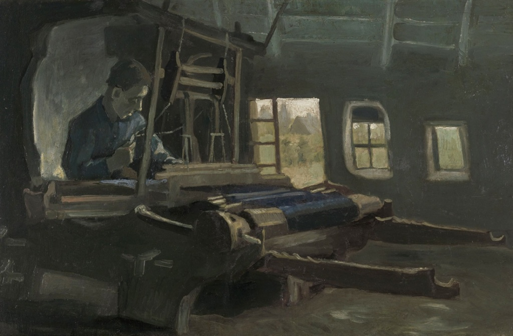 Vincent van Gogh, Telaio con tessitore, 1884