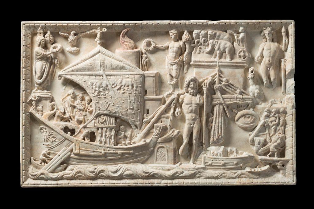 Roma mostra marmi Torlonia Rilievo di Porto